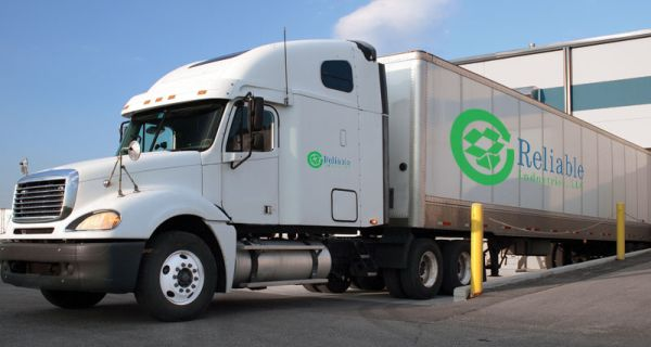 Reliable Industries recycling truck.
