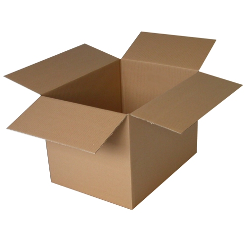 Top and bottom flap cardboard box.